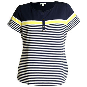 0x Striped Short Sleeve Top NEW w/ tags Plus Size